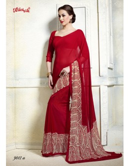 Party Wear Georgette Printed Saree  - 9012-A