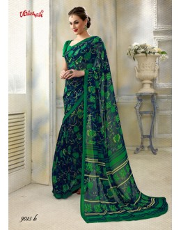 Georgette Casual Wear Printed Saree  - 9015-B