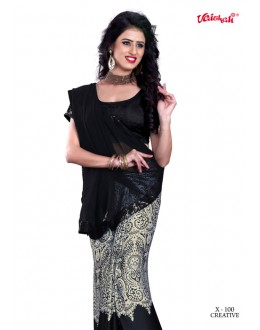 Festival Wear Black Georgette Saree  - VAISHALI-X-100