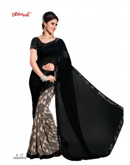 Festival Wear Black Georgette Saree  - VAISHALI-X-77