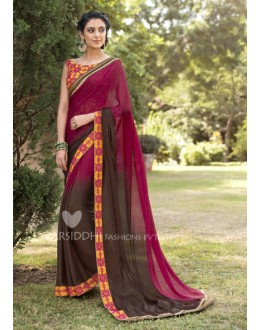 Ethnic Wear Jacquard Chiffon Saree - 3200
