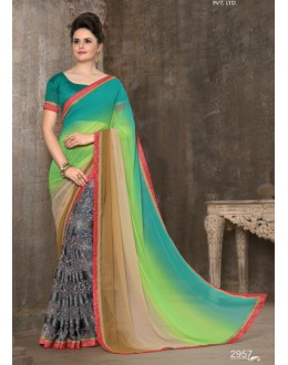 Casual Wear Multi-Colour Saree - 2957