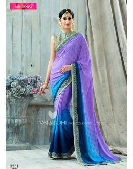 Festival Wear Purple Viscose Jacquard Chiffon Saree  - VARISDDHI-3351