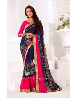 Festival Wear Blue Georgette Saree  - VARSIDDHI-3451