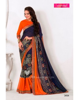 Blue Colour Designer Georgette Saree  - VARSIDDHI-3454