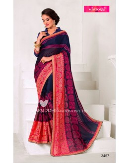 Multi-Colour Georgette Printed Saree  - VARSIDDHI-3457