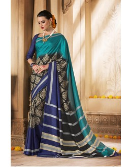 Festival Wear Green & Blue Silk Saree  - VARSIDDHI-3502