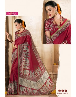 Maroon COlour Silk Printed Saree  - VARSIDDHI-3505