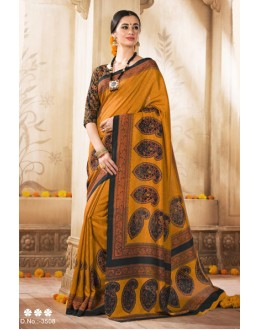 Ethnic Wear Yellow Silk Saree  - VARSIDDHI-3508