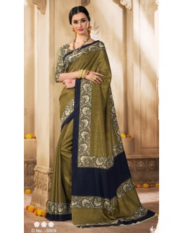 Party Wear Mehendi Green Silk Saree  - VARSIDDHI-3509