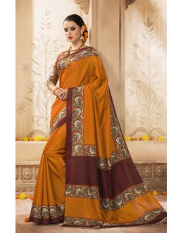 Festival Wear Orange Silk Saree  - VARSIDDHI-3510