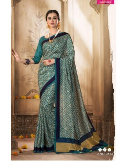 Green Colour Silk Printed Saree  - VARSIDDHI-3513