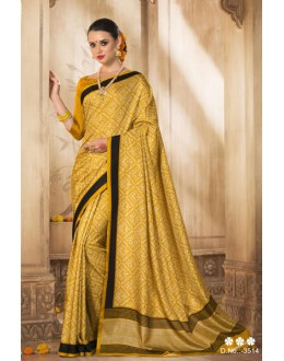 Yellow Colour Silk Printed Saree  - VARSIDDHI-3514