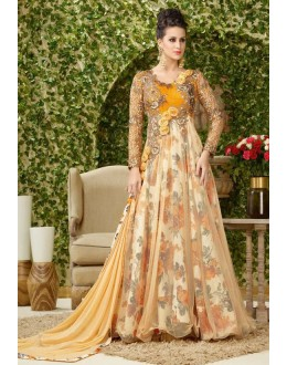 Wedding Wear Multi-Colour Net Gown - VIPUL-4004