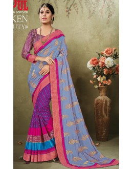 Casual Wear Multicolour Art Silk Saree  - 19921