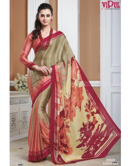 Casual Wear Multicolour Crepe Silk Saree  - 20025