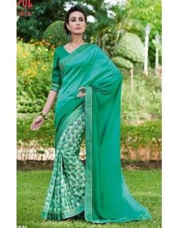 Ethnic Wear Green Ruby Silk Saree  - 20602