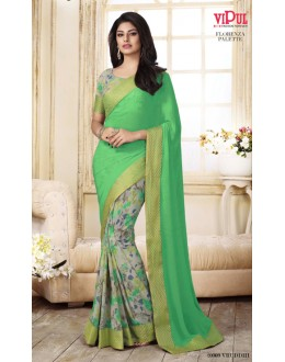 Casual Wear Multi-Colour Georgette Saree  - VIPUL-20909