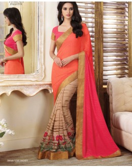 Festival Wear Multi-Colour Georgette Saree  - VIPUL-20910