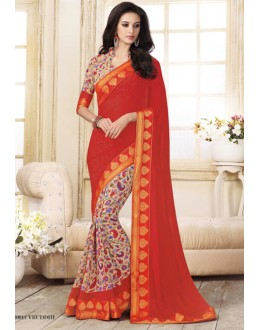 Ethnic Wear Multi-Colour Georgette Saree  - VIPUL-20912