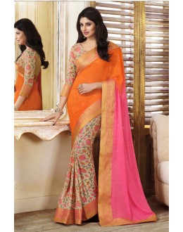 Casual Wear Multi-Colour Georgette Saree  - VIPUL-20915
