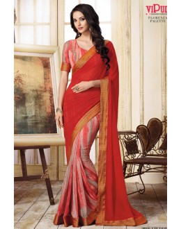 Casual Wear Multi-Colour Georgette Saree  - VIPUL-20916