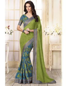 Casual Wear Multi-Colour Georgette Saree  - VIPUL-20917
