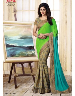 Party Wear Multi-Colour Georgette Saree  - VIPUL-20918