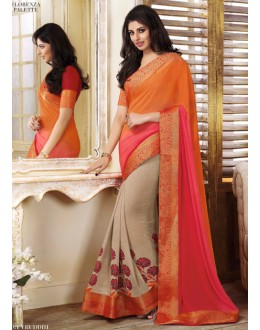 Ethnic Wear Multi-Colour Georgette Saree  - VIPUL-20921