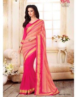 Ethnic Wear Pink Georgette Saree  - VIPUL-20922