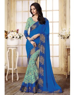 Party Wear Multi-Colour Georgette Saree  - VIPUL-20923