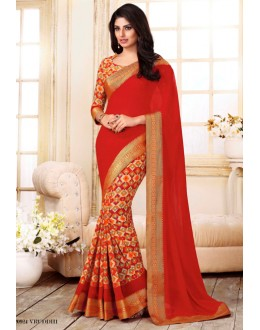 Festival Wear Multi-Colour Georgette Saree  - VIPUL-20924