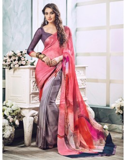 Ethnic Wear Multi-Colour Soft Georgette Saree  - 21006