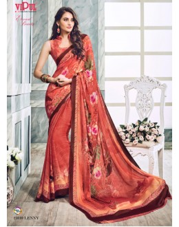 Festival Wear Multi-Colour Soft Georgette Saree  - 21010