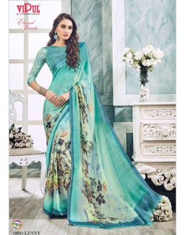 Ethnic Wear Grey Soft Georgette Saree  - 21015