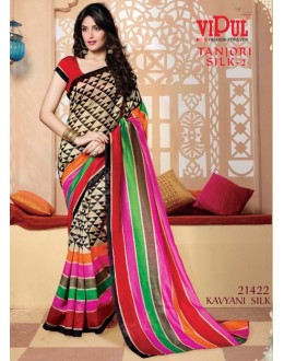 Ethnic Wear Multi-Colour & Red Saree  - VIPUL-21422