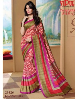 Ethnic Wear Multi-Colour & Beige Saree  - VIPUL-21426