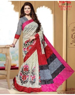 Ayesha Takia In Multi-Colour & Grey Saree  - VIPUL-21432