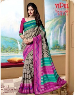 Festival Wear Multi-Colour & Pink Saree  - VIPUL-21442