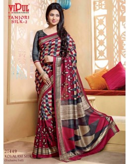 Ethnic Wear Multi-Colour & Grey Saree  - VIPUL-21449