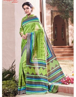 Party Wear Green Thappa Silk Saree - VIPUL-30237