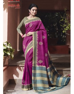 Ethnic Wear Pink Thappa Silk Saree - VIPUL-30238