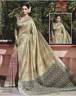 Party Wear Multi-Colour Thappa Silk Saree - VIPUL-30244