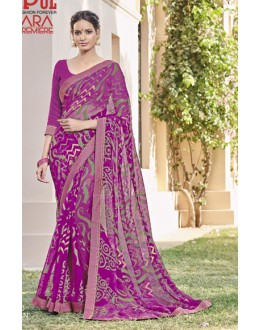 Casual Wear Pink Saree  - VIPUL-30423