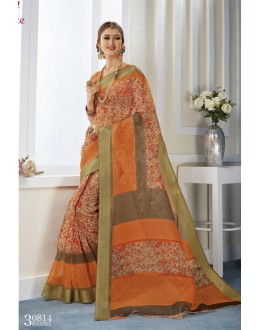 Multi-Colour Khadi Cotton Printed Saree  - VIPUL-30814