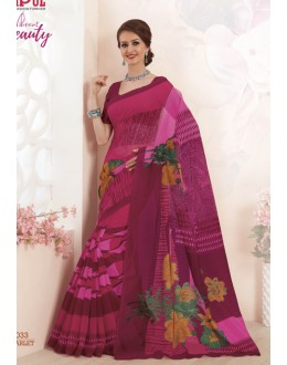 Magenta Colour Super Net Saree  - VIPUL-32033