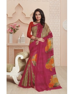 Festival Wear Pink Super Net Saree  - VIPUL-32034