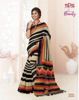 Casual Wear Multi-Colour Super Net Saree  - VIPUL-32040