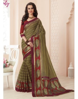 Party Wear Green Super Net Saree  - VIPUL-32044