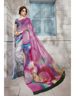Ethnic Wear Multi-Colour Georgette Saree  - VIPUL-32931